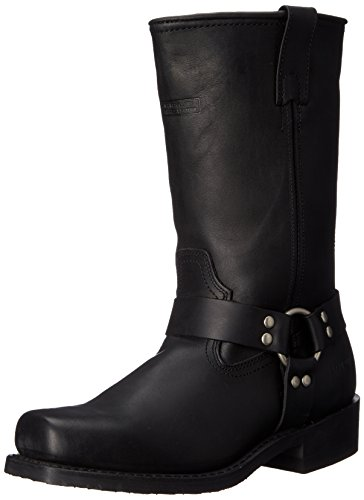 AdTec Men's 11 Inch Harness Motorcycle Boot, Black, 14 W US