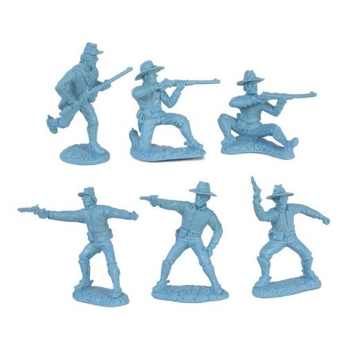 (Civil War Dismounted Cavalry Plastic Army Men: 12 LIGHT BLUE 54mm Figures - 1:32 scale)