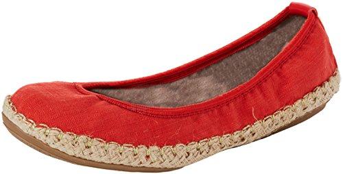 Gigi 137 Rouge Bout tomato Linen Twists Linen Femme Ballerines Fermé Butterfly nwq6xBUO