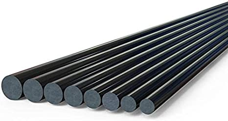 Diameter 5mm,6mm,5mm Wzqwzj High Strength Round Carbon Fiber Rods Stable Performance Long 500mm