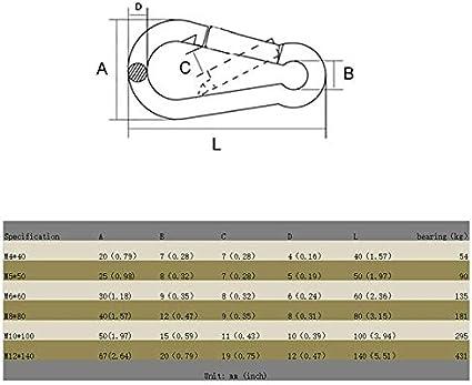 in acciaio inox multifunzione Bestlymood Set di 2 ganci da parete a forma di U per amaca e amaca