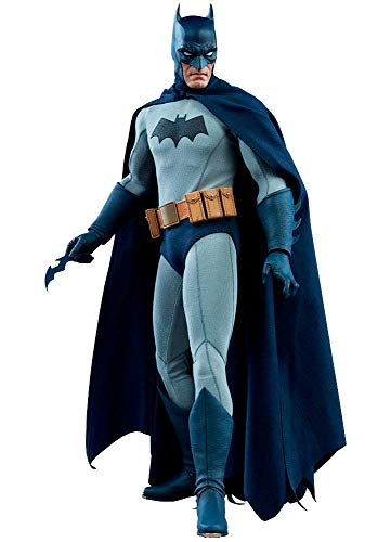 (Collectors Row Sideshow Batman 1/6 Sixth Scale Dark Knight DC Blue Grey Suit Action)