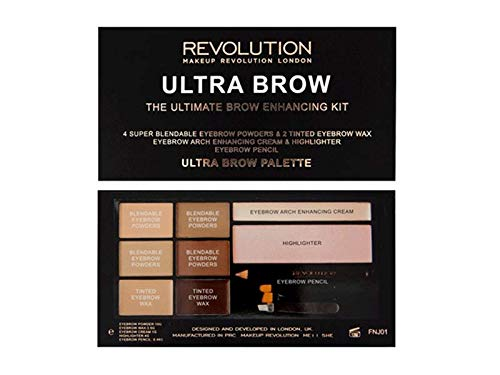 Makeup Revolution – Ultra Brow Eyebrow Kit – Fair to Medium 18672