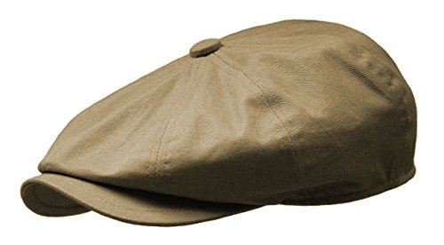 Rooster Cotton Twill Newsboy Gatsby Ivy Cap Golf Cabbie Driving Hat (Medium, Taupe) (Golf Panel Cotton Cap Twill)