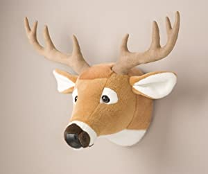 deer head stuffed animal wall mount hunter nursery toys games. Black Bedroom Furniture Sets. Home Design Ideas