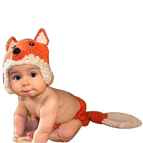 Newborn Knitted Crochet Costume Photograph