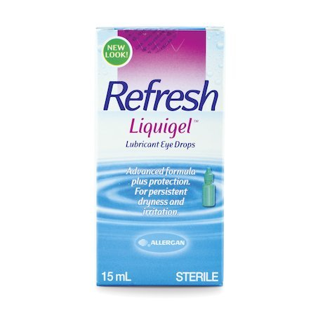 (Sterile Refresh Liquigel Lubricant Eye Gel 15ml- moisturizing, protection, for dry eye)