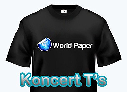 "LASER TRANSFER FOR DARK FABRIC: ""IMAGE CLIP KONCERT-T's"" (8.5""X11"") 25pk :)"
