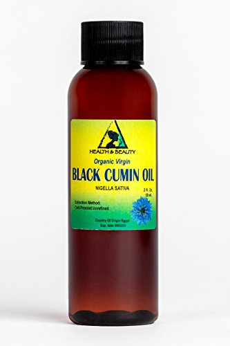 Black Seed Oil / Cumin Oil Unrefined Organic Virgin Raw Cold Pressed Premium Fresh Pure 2 oz