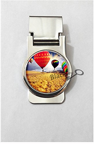 (BlackKey Hot Air Balloon Metal Clip for Receipt, Money, Business Card & Credit Card, Style 2 -1956)