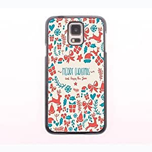SHOUJIKE Merry Christmas Pattern Aluminum Hard Case for Samsung Galaxy S5 I9600