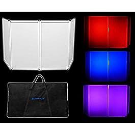 Rockville RFAAW DJ Event Facade Light Weight Metal Frame Booth+Travel Bag+Scrim,White
