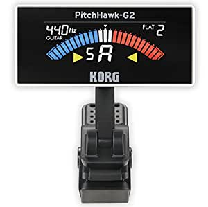 korg aw3g2wh pitchhawk g2 clip on guitar tuner white musical instruments. Black Bedroom Furniture Sets. Home Design Ideas