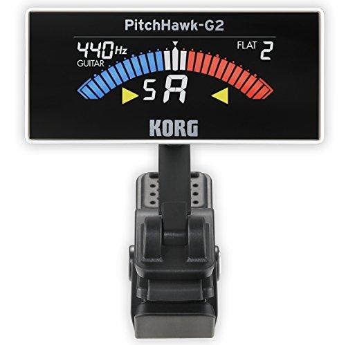 Korg AW3G2WH PitchHawk G2 Clip-On Guitar Tuner, White