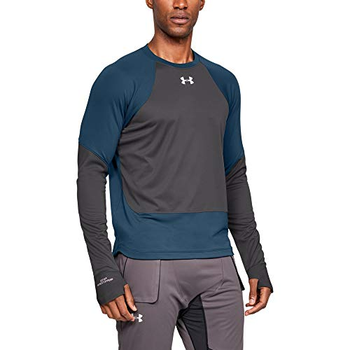 Under Armour Men's ColdGear Reactor WINDSTOPPER Long Sleeve, Techno Teal (489)/Reflective, Small