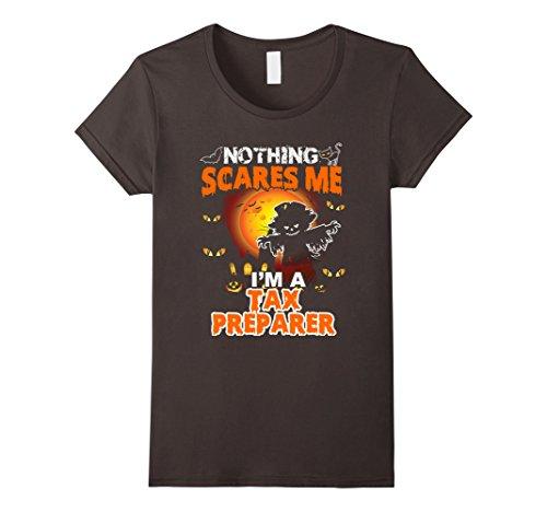 Womens Funny Tax Preparer Halloween Gift T-Shirt XL (Preparer Halloween)
