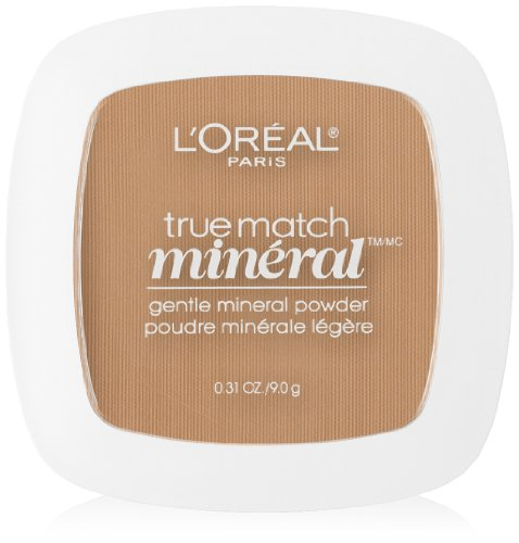 L'Oreal Paris True Match Mineral Pressed Powder, Sand Beige, 0.31 Ounce