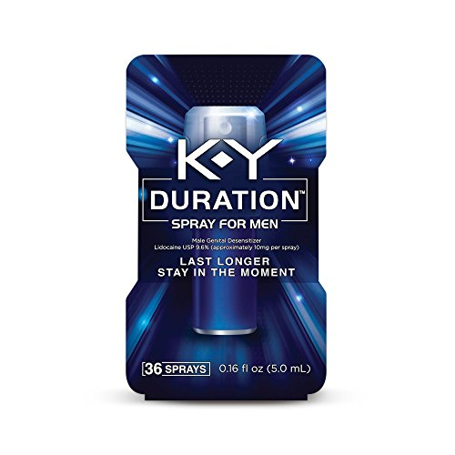 K-Y Duration Male Genital Desensitizer Spray to last longer, fl Oz.,  36 Sprays/0.16 Made with delay lube for men