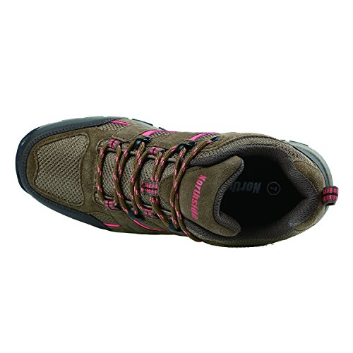 Pictures of Northside Women's Monroe Low Hiking Shoe Dk Gray/Dk Turquoise 3