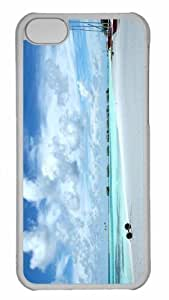 Customized iphone 5C PC Transparent Case - The Maldives Personalized Cover