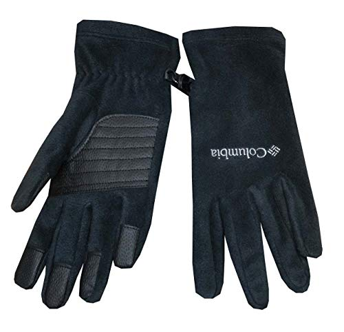 Columbia Women Agent Heat II Omni-Heat Thermal Reflective Fleece Gloves (L, Black)