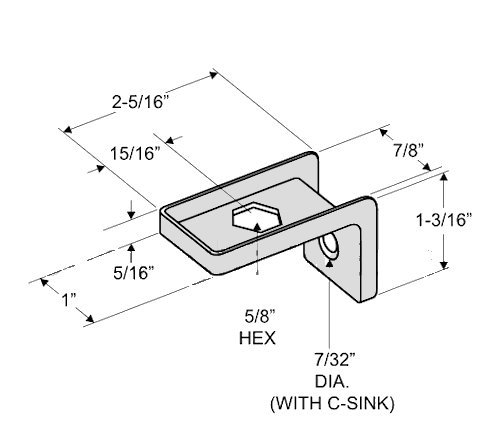 Outswing Door Hardware Repair Pak - for 7/8'' Restroom Partition Door & 1-1/4'' Pilaster by Youngs Catalog (Image #1)