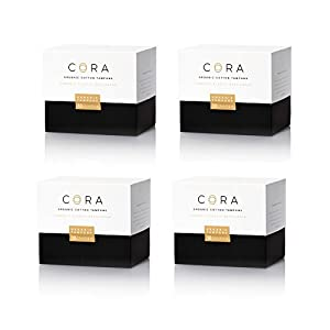 Cora Super Organic Tampons with Applicator
