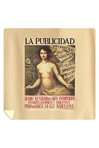 La Punlicidad Vintage Poster (artist: Camals, R.) Spain c. 1934 (88x88 Queen Microfiber Duvet Cover) by Lantern Press