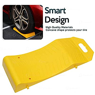 Zone Tech Tire Saver Ramps - 8-Pack Premium Quality Highly Visible Travel Ramps for Flat Spot and Flat Tire Prevention: Automotive