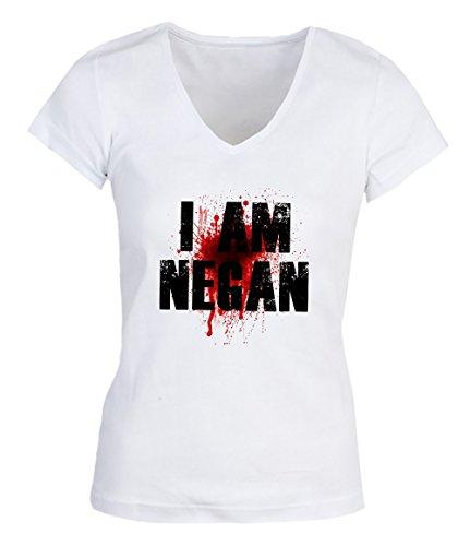 I Am Negan The Walking Dead Quote Damen V-neck T-shirt