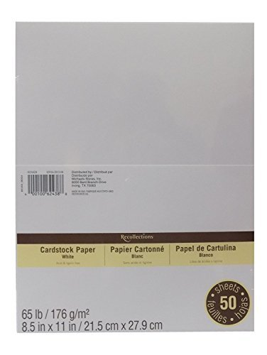 Cardstock Paper Value Pack, 8.5 x 11 in White by Recollections (Value 2-pack) by Recollections
