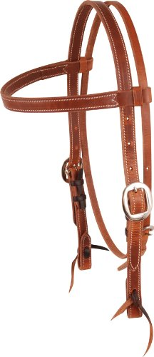 Martin Saddlery Double Stitched Browband Headstall Hermanoak