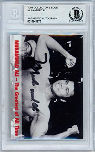 Autographed Card Collectors Edge (Muhammad Ali Autographed 1994 Collectors Edge Card Beckett BAS #10841670)