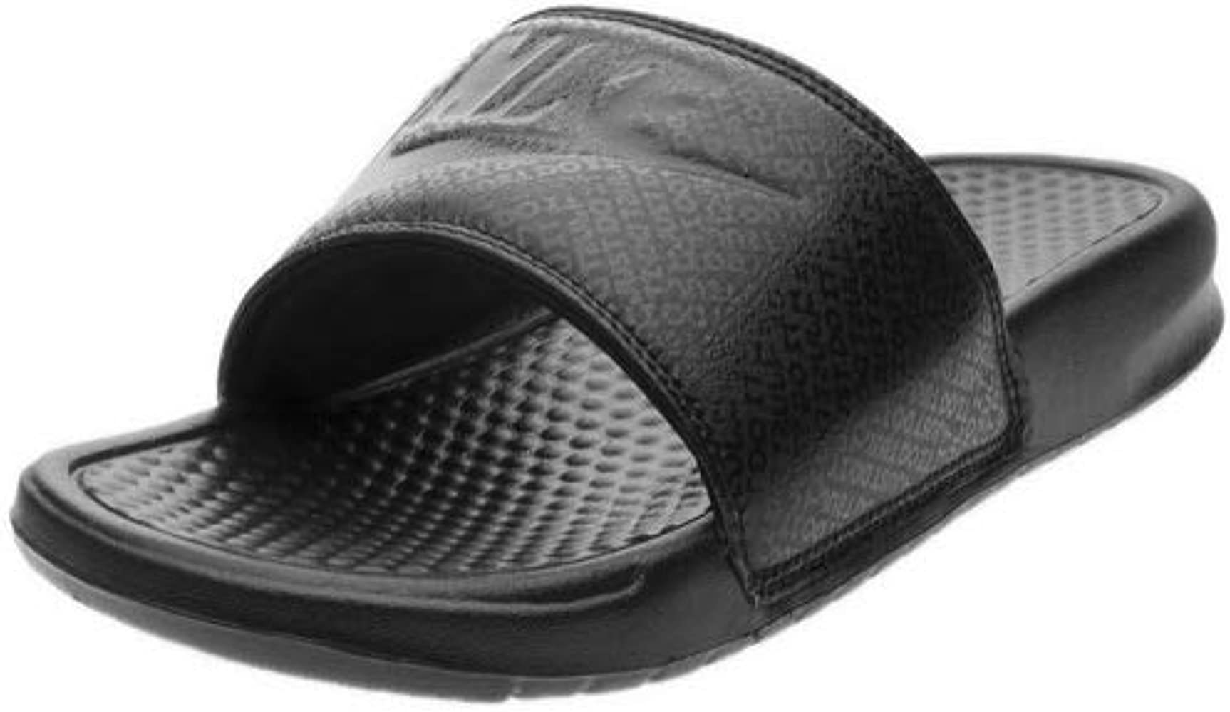más nuevo mejor calificado estilo atractivo envío gratis Nike Men's Benassi Just Do It Athletic Sandal, Black, 7 UK (41 EU ...