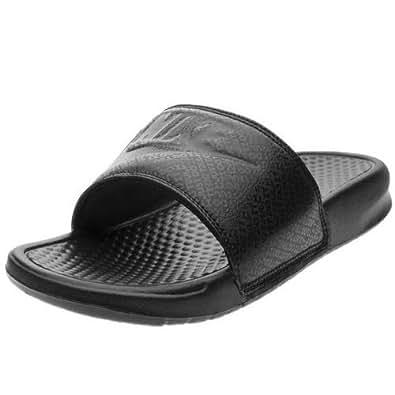 Nike Australia Men's Benassi JDI Slides, Black/White, 7 US