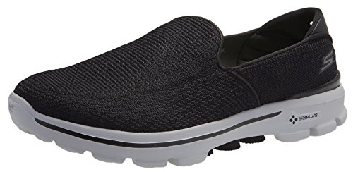 Skechers Performance Men's Go Walk 3 Slip-On Walking Shoe (11 D(M) US, Black/Grey) ()