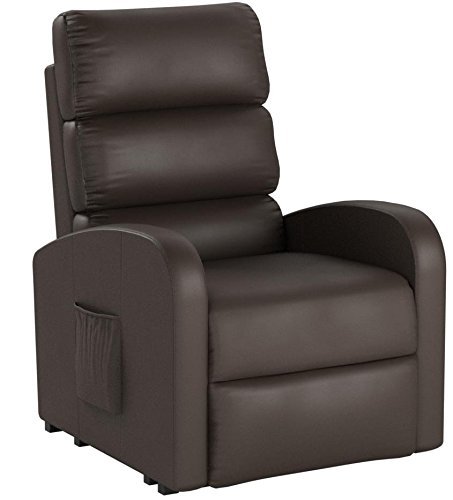 Divano Roma Furniture Classic Plush Bonded Leather Power