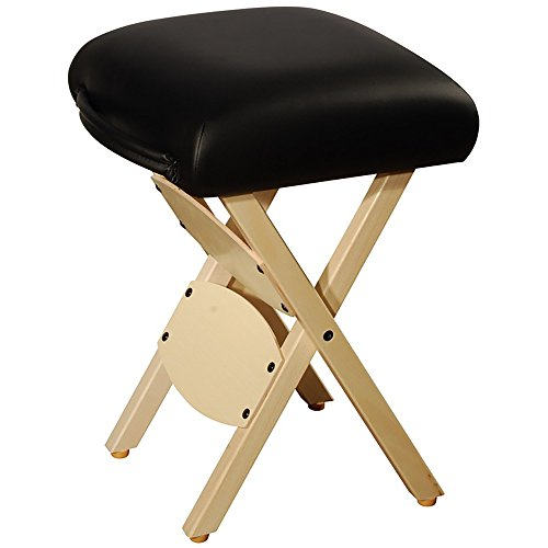 Master Massage Tables Lightweight Wooden Handy Folding Massage Stool, (Wooden Folding Stool)
