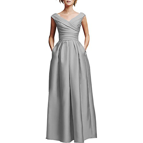 Buy light blue and silver bridesmaid dresses - 6