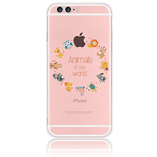 Pet Cute Names Halloween (iPhone 7 Plus Case, Sunroyal Slim Silicone TPU Soft Flexible Anti-dust Cover Transparent Cartoon Animal of Paradise [Owl,Lion,Deer,Sheep,Tortoise,Fox,Cow,Giraffe,Blue)