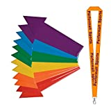 Champion Sports Poly Directional Arrow Set Assorted (Set of 12) Bundle with 1 Performall Lanyard DFASET-1P