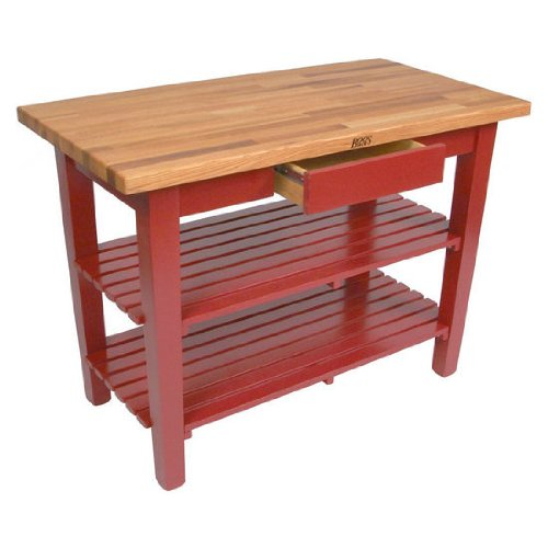 John Boos Oak Table (John Boos OC Oak Country Table - Blended Butcher Block Top, 36