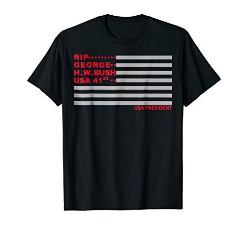 RIP George H.W. Bush American Flag T-Shirt 41st ()