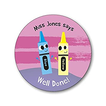 70 personalised teacher reward stickers well done super work labels add your own