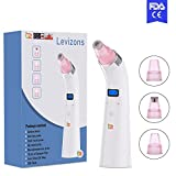 LEVIZONS Vacuum Blackhead Remover | Comedone Blackhead Acne Zit Extractor Suction Tool | Face Pores Cleaner Machine with 4 Changeable Probes | Painless Rechargeable Multifunctional | For Men & Women