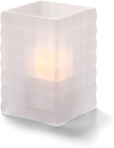 Hollowick Home Satin Crystal Optic Block Glass Liquid Candle Holders 3 Packs