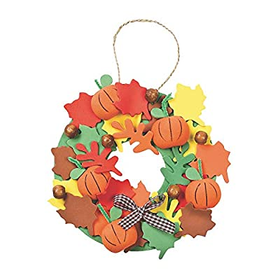 3-D Pumpkin Wreath Craft Kit - Crafts for Kids and Fun Home Activities: Arts, Crafts & Sewing