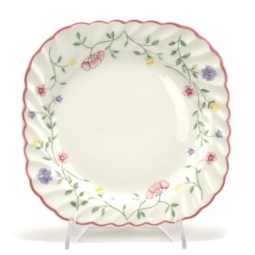 Summer Chintz by Johnson Brothers, China Salad Plate, Square