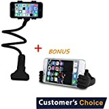 Audiology Connect 2 in 1 Gooseneck Phone Holder, Lazy Gooseneck Phone Holder, Bendy Phone Holder. Perfect for Bed, Desk, Kitchen + Thumb Up Phone Stand!
