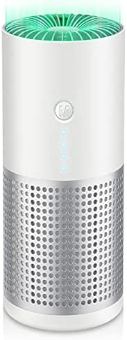 Mini Portable Air Purifiers, True HEPA Filter Air Cleaner with Air Quality Indicator and Negative Ion Function